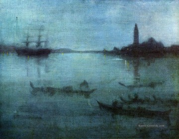 venedig Ölbilder verkaufen - Blue and Silver Nocturne in Blue and Silver The Lagoon James Abbott McNeill Whistler Venedig